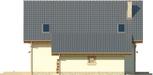 Projekt domu Galena - elewacja boczna 2