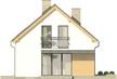 Projekt domu Master - elewacja tylna