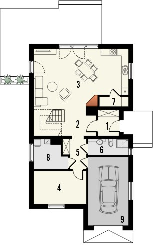 Projekt domu Master - rzut parteru