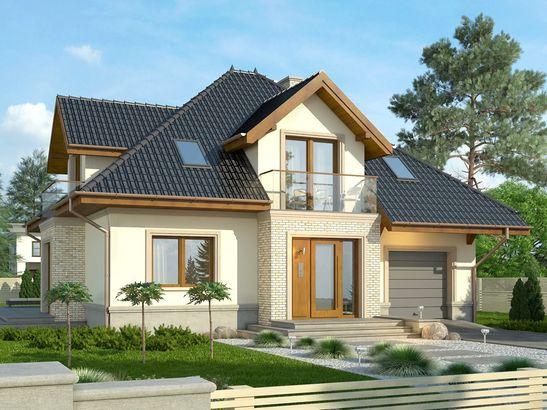 Projekt domu Ikebana 3 - widok 1