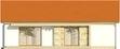 Projekt domu Dimaro 2 - elewacja tylna