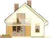 Projekt domu Inicjał - elewacja tylna