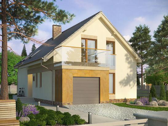 Projekt domu Inicjał - widok 1