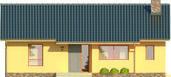 Projekt domu Cypr - elewacja przednia