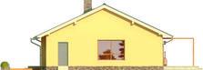 Projekt domu Cypr - elewacja boczna 1