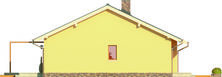 Projekt domu Cypr - elewacja tylna