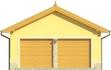 Projekt domu Garaż 13 - elewacja przednia