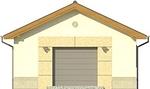 Projekt domu Garaż 14 - elewacja przednia