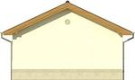 Projekt domu Garaż 14 - elewacja tylna