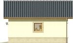 Projekt domu Garaż 14 - elewacja boczna 2