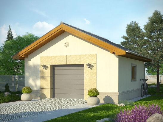 Projekt domu Garaż 14 - widok 1