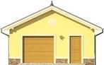 Projekt domu Garaż 15 - elewacja przednia