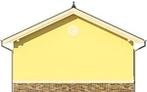 Projekt domu Garaż 15 - elewacja tylna