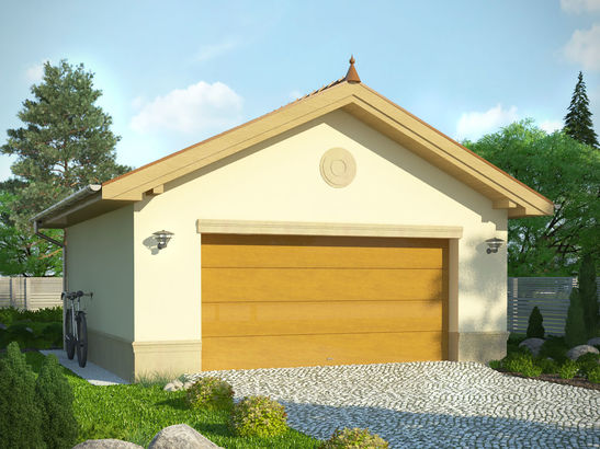 Projekt domu Garaż 16 - widok 1