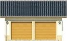 Projekt domu Garaż 17 - elewacja przednia