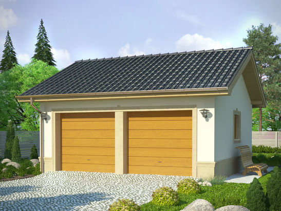 Projekt domu Garaż 17 - widok 1