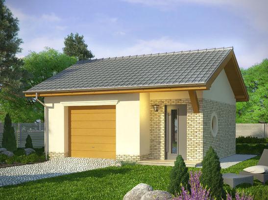 Projekt domu Garaż 18 - widok 1