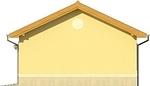 Projekt domu Garaż 19 - elewacja boczna 2