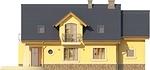 Projekt domu Szmaragd 3 - elewacja tylna