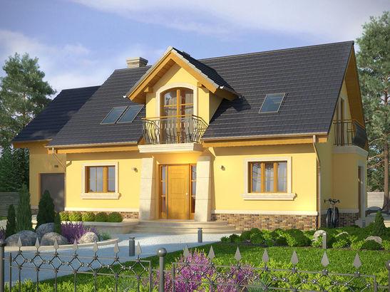Projekt domu Szmaragd 3 - widok 1