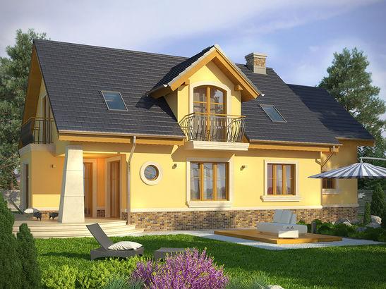 Projekt domu Szmaragd 3 - widok 2