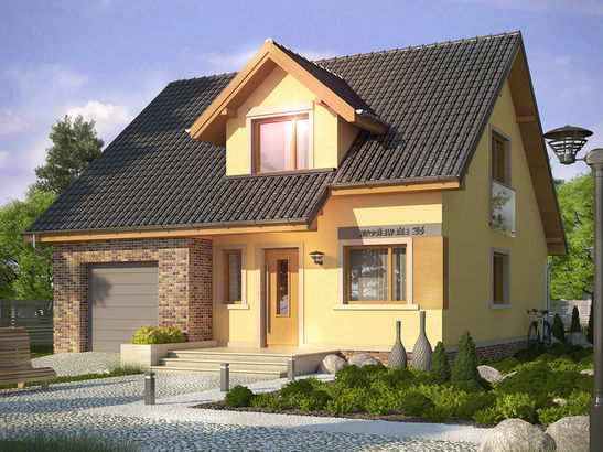 Projekt domu Absolwent 2 - widok 1