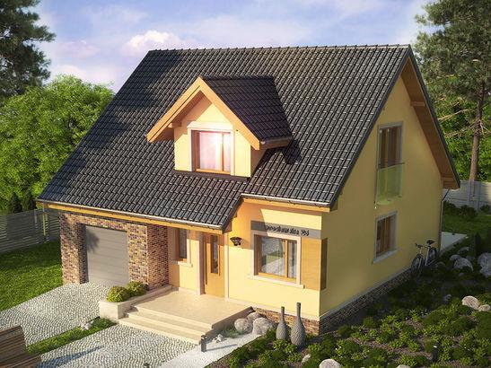 Projekt domu Absolwent 2 - widok 3