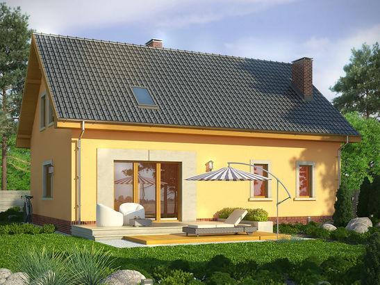 Projekt domu Opuncja - widok 2