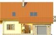 Projekt domu Słowianin - elewacja przednia