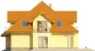 Projekt domu Meritum 2 - elewacja boczna 1
