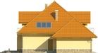 Projekt domu Meritum 2 - elewacja boczna 2