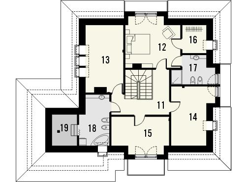 Projekt domu Meritum 2 - rzut poddasza