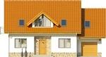 Projekt domu Czar - elewacja przednia