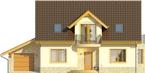 Projekt domu Wicher - elewacja przednia