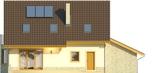 Projekt domu Wicher - elewacja tylna
