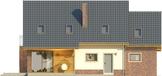 Projekt domu Komfort - elewacja tylna