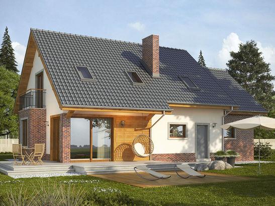 Projekt domu Komfort - widok 2