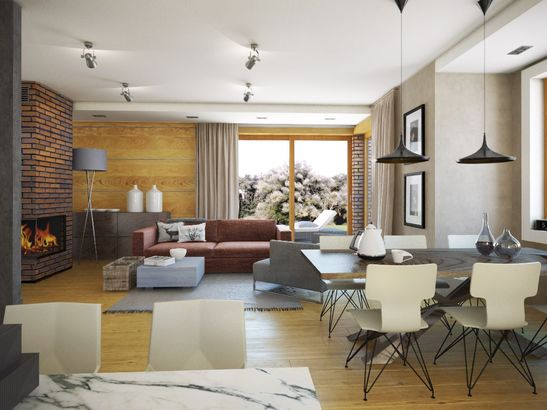 Projekt domu Komfort - widok 3