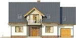 Projekt domu Pryzmat - elewacja przednia