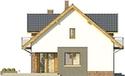 Projekt domu Pryzmat - elewacja boczna 1