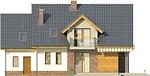 Projekt domu Pryzmat - elewacja tylna