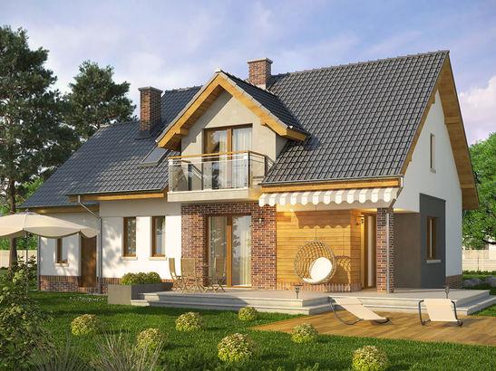 Projekt domu Pryzmat - widok 2