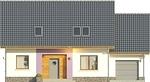 Projekt domu Akwarela - elewacja przednia