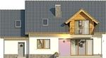 Projekt domu Akwarela - elewacja tylna