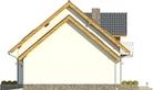 Projekt domu Akwarela - elewacja boczna 2