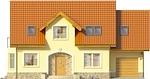 Projekt domu Frykas - elewacja przednia