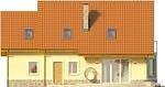 Projekt domu Frykas - elewacja tylna