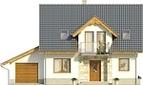 Projekt domu Kolia - elewacja przednia