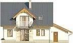 Projekt domu Kolia - elewacja tylna
