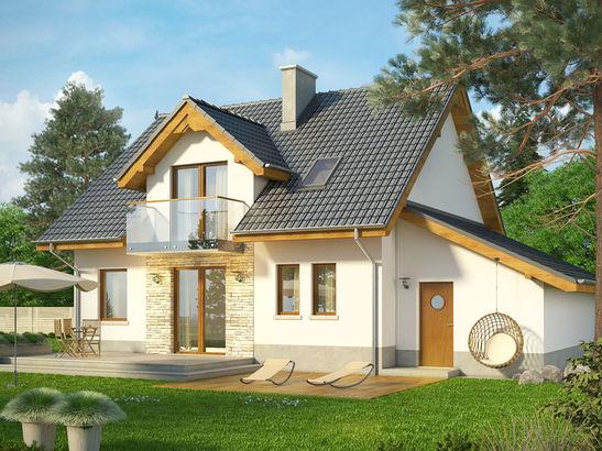 Projekt domu Kolia - widok 2